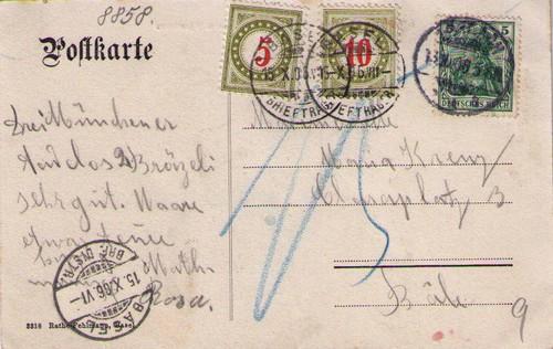 gesucht Postvermerke