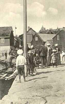 Thorshavn Hafenszene